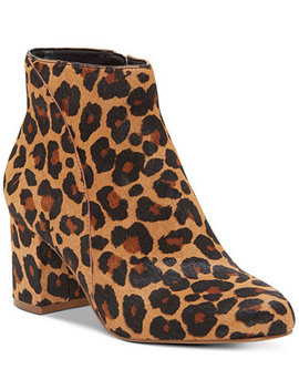 I.N.C. Floriann Block Heel Bootie, Created For Macy's by General
