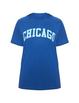 Midnight Blue Chicago Slogan T Shirt by Prettylittlething