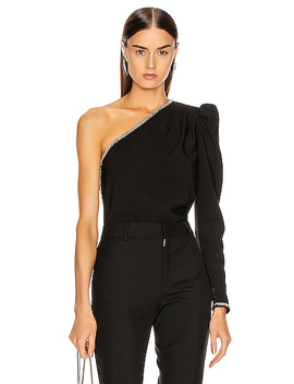 One Shoulder Crepe Top by Self Portrait