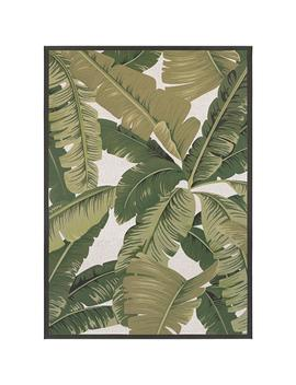 Dolce Palm Lily Hunter Green Ivory 5 Ft. X 8 Ft. Indoor/Outdoor Area Rug by Couristan