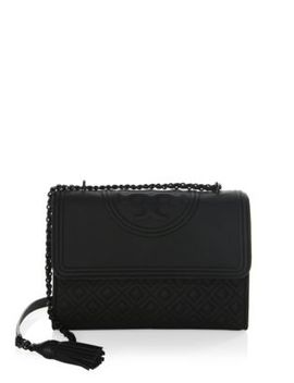 Fleming Matte Leather Shoulder Bag by Tory Burch