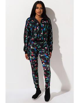 Adidas Womens Floral Print Tights by Akira