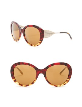 57mm Trench Knot Oversized Sunglasses by Burberry
