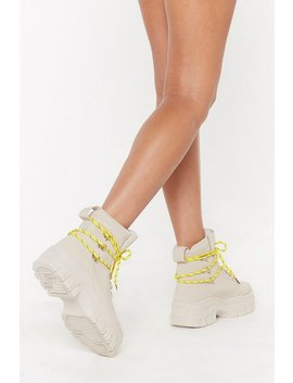 Don't Lace 'em High Top Lace Up Trainers by Nasty Gal