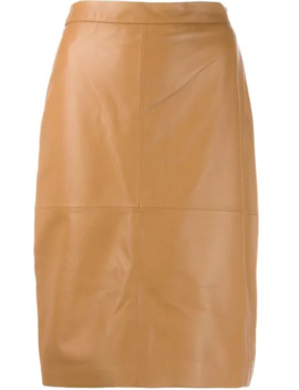 High Waisted Leather Skirt by Federica Tosi