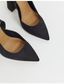 Asos Design Wide Fit Pace High Block Heels In Black by Asos Design