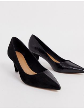 Asos Design Summary Mid Heeled Court Shoes In Black by Asos Design