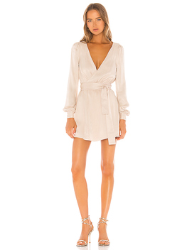 Janet Mini Dress In Champagne by Nbd
