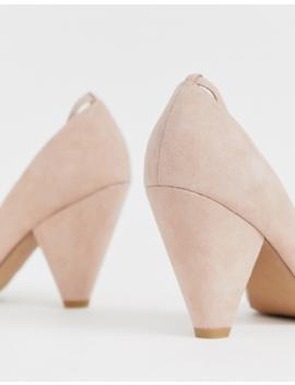 Asos Design Speak Out Pointed Mid Heels In Beige by Asos Design