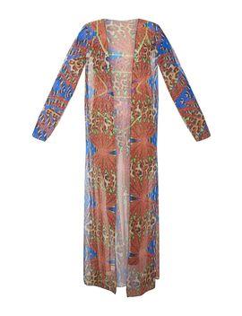 Multi Mixed Jungle Print Mesh Kimono by Prettylittlething
