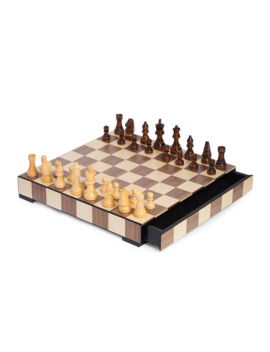 Wood Matte Inlay Chess/Checkers Set by Bey Berk