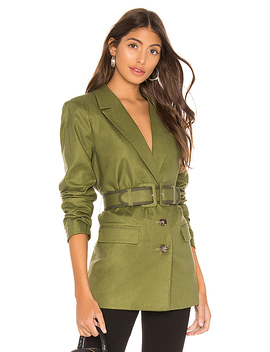 The Thierry Blazer In Olive by L'academie