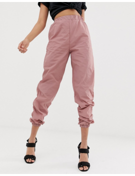 Missguided   Joggers In Nylon Cipria by Missguided