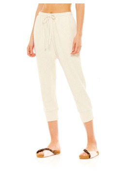 Leah Drawstring Cropped Track Pants by The Upside