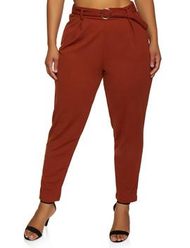 plus-size-metallic-loop-dress-pants by rainbow