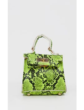 Green Snake Micro Mini Bag by Prettylittlething