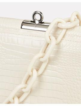 Demilune Croc Embossed Shoulder Bag by Gu De