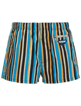 Striped Nylon Swim Shorts by Prada