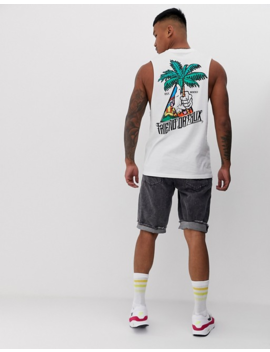 Friend Or Faux Thumbs Up Back Print Sleeveless T Shirt Tank by Friend Or Faux