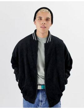 Collusion – Oversized Bomberjacke Aus Schwarzem Cord by Asos
