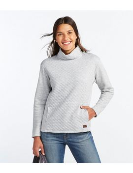 Quilted Sweatshirt Pullover, Funnelneck by L.L.Bean