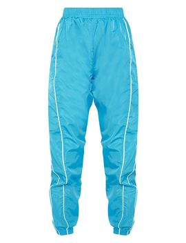 Blue Shell Tracksuit Bottom  by Prettylittlething