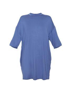 Midnight Blue Oversized Boyfriend T Shirt Dress by Prettylittlething