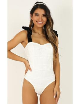 High Notes Bodysuit In White Lace by Showpo Fashion