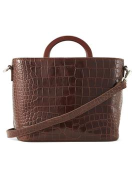 The Jasper Brown Croc Side Bag by Nakedvice