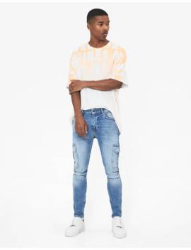 Skinny Fit Cargo Jeans by Bershka