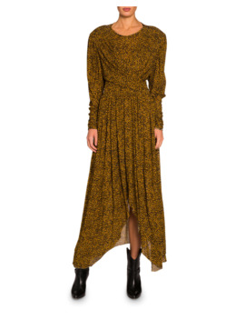Floral Print Jersey Asymmetric Dress by Isabel Marant