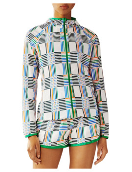 Printed Nylon Packable Jacket by Tory Sport
