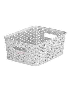 Curver 8 L Grey Basket by Dunelm