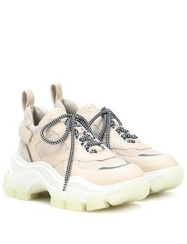 Pegasus Leather Sneakers by Prada