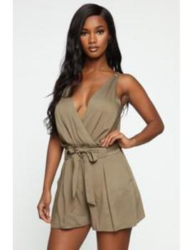 Melina Romper   Olive by Fashion Nova