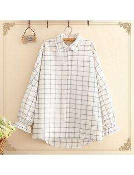 Kawaii Fairyland   Checked Long Sleeve Shirt by Kawaii Fairyland