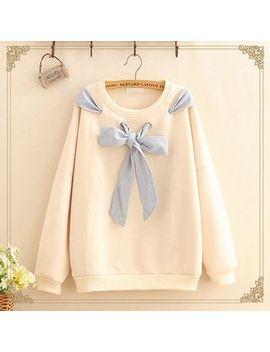 Kawaii Fairyland   Bow Detail Long Sleeve Sweatshirt by Kawaii Fairyland