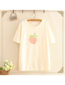 Kawaii Fairyland   Peach Printed T Shirt by Kawaii Fairyland