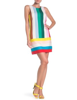 A Line Rainbow Stripe Dress by Laundry By Shelli Segal