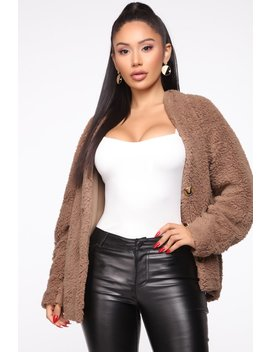 Ooh Baby Faux Fur Jacket   Brown by Fashion Nova