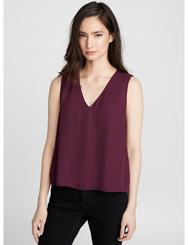 Recycled Crepe V Neck Cami by Contemporaine