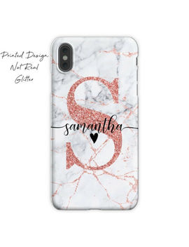 Initials Phone Case Personalised Marble Cover For Apple Iphone 7 8 X Xs Max Xr by Ebay Seller