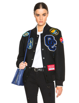 Fruit Sticker Varsity Jacket by Opening Ceremony