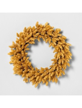 """20""""-faux-yellow-hops-wreath---hearth-&-hand-with-magnolia by shop-this-collection"""