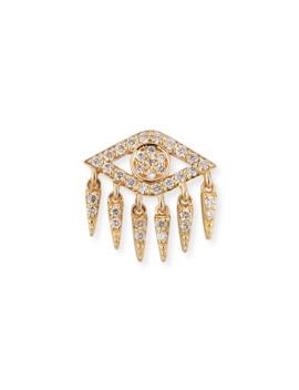 14k Diamond Evil Eye Fringe Earring (Single) by Sydney Evan
