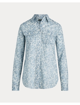 Floral Cotton Voile Shirt by Ralph Lauren