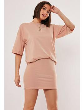 Pink T Shirt And Skirt Co Ord Set by Missguided