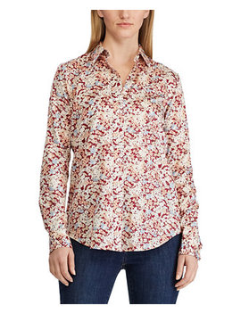 Floral Print Cotton Sateen Shirt by General
