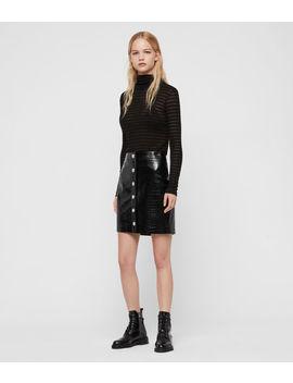 Bela Leather Skirt by Allsaints