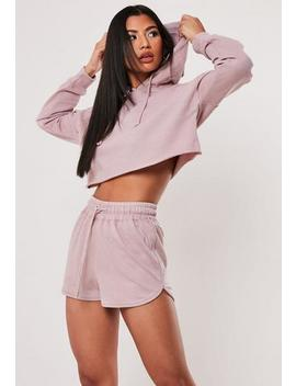 Petite Pink Oversized Hoodie And Shorts Co Ord Set by Missguided